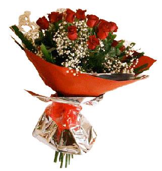 Dozen Fresh Red Roses in a Bunch