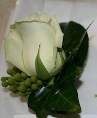 Buttonhole - Rose with Berries