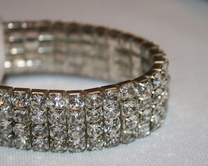 Wrist band - Diamonte 15mm