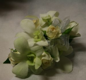 Orchids & Rose Wrist Corsage