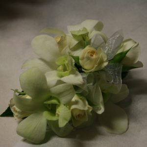 Orchids & Rose Wrist Corsage