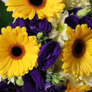 Bouquet Yellow & Purple