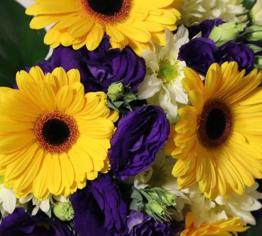 Bouquet Yellow & Purple