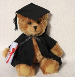 Graduation Bear with Glasses