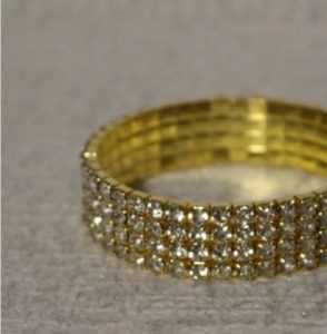 Gold Diamante Band