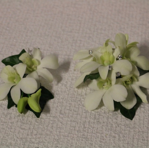Set Orchid with diamontes